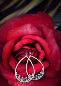 Blue Raindrops Earring