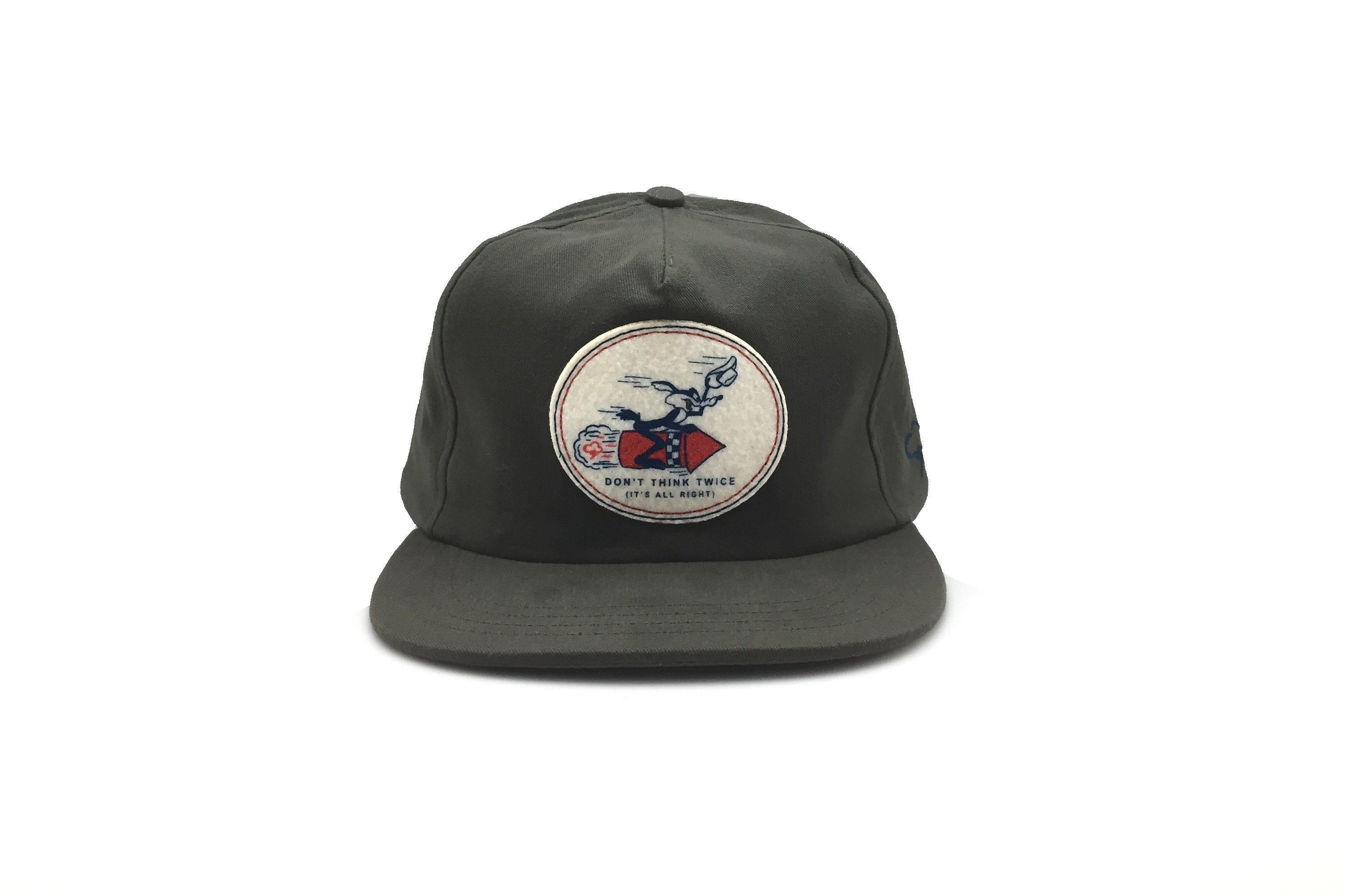Don't Think Twice Strapback Hat - Olive