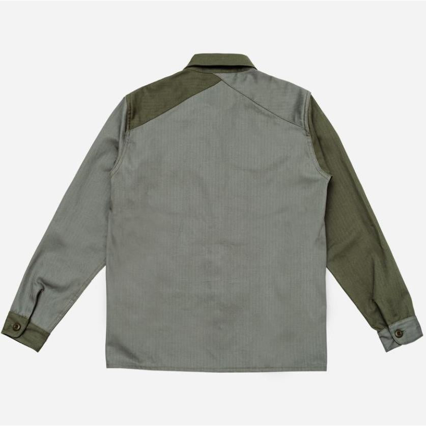 Fatigue Overshirt Olive Color Block