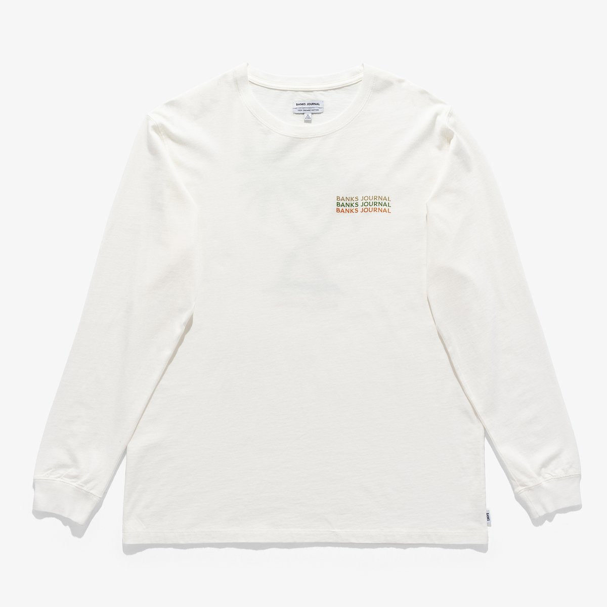 Green Haze L/S Tee - Off White