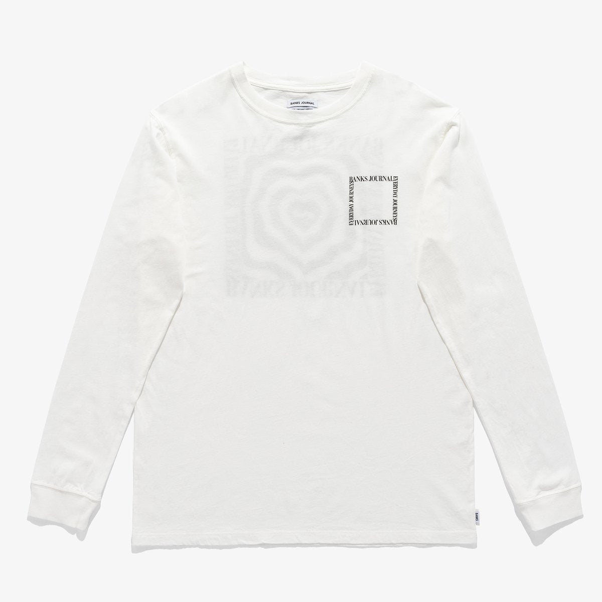 Heart Wrap L/S Tee - Off White