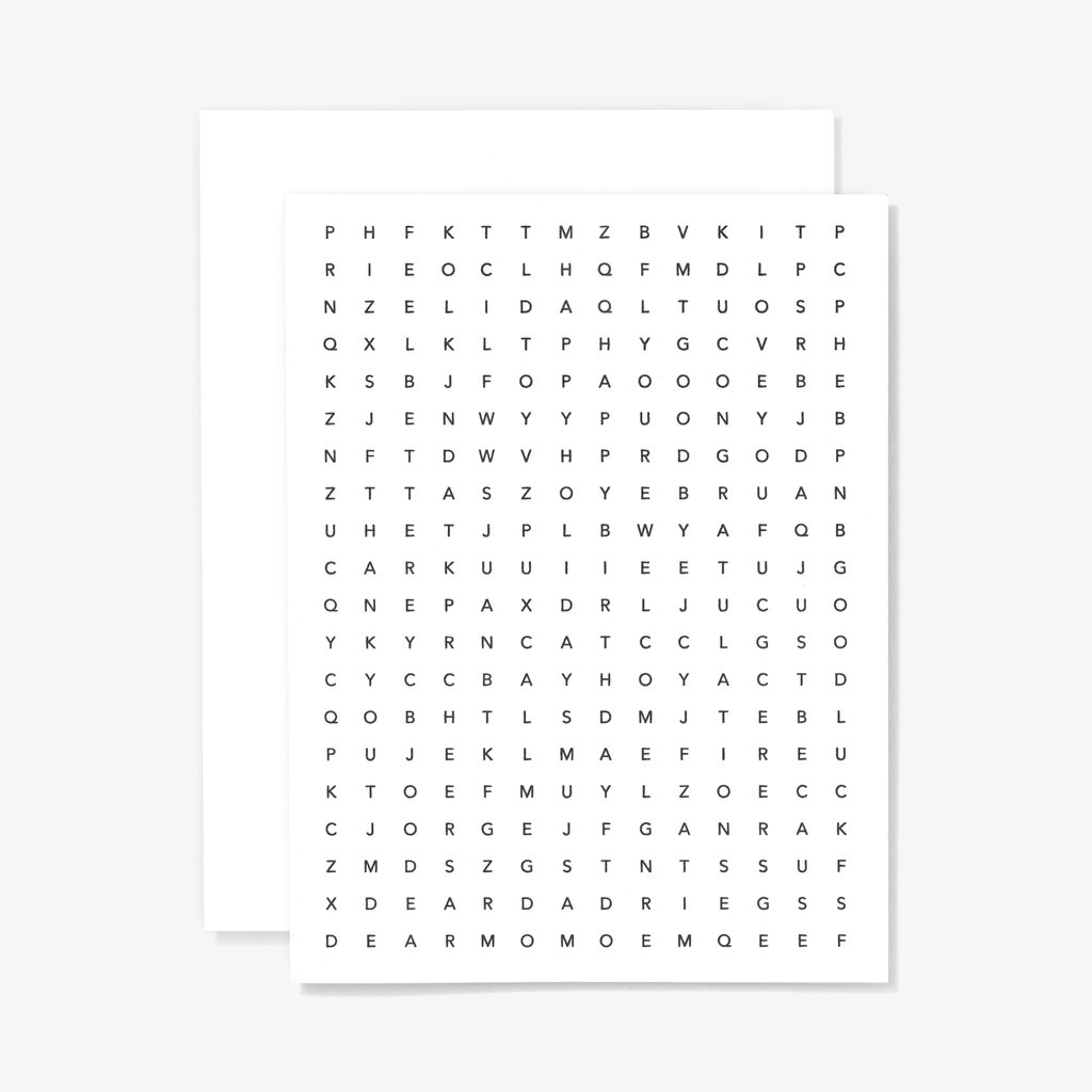 Wordsearch Card