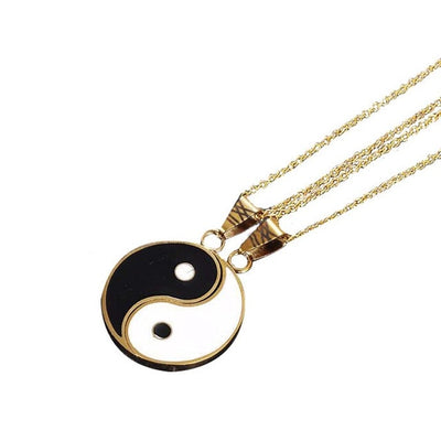 2 Pcs Tai Chi Necklace Stainless Steel Yin Yang Pendant Puzzle Piece Necklace Birthday Jewelry Gifts For Couple Or Best Friends