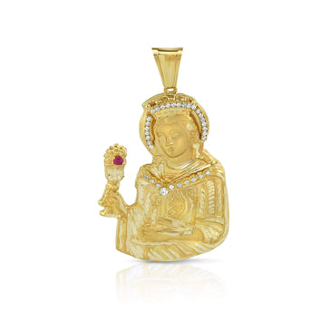 Saint Barbara Pendant in 10K Solid Yellow Gold