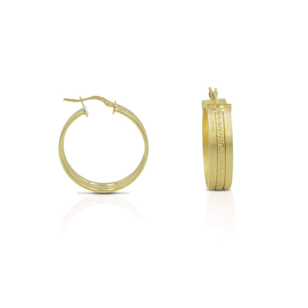 Italian Designer Stylish Womens Earring in 14K Gold