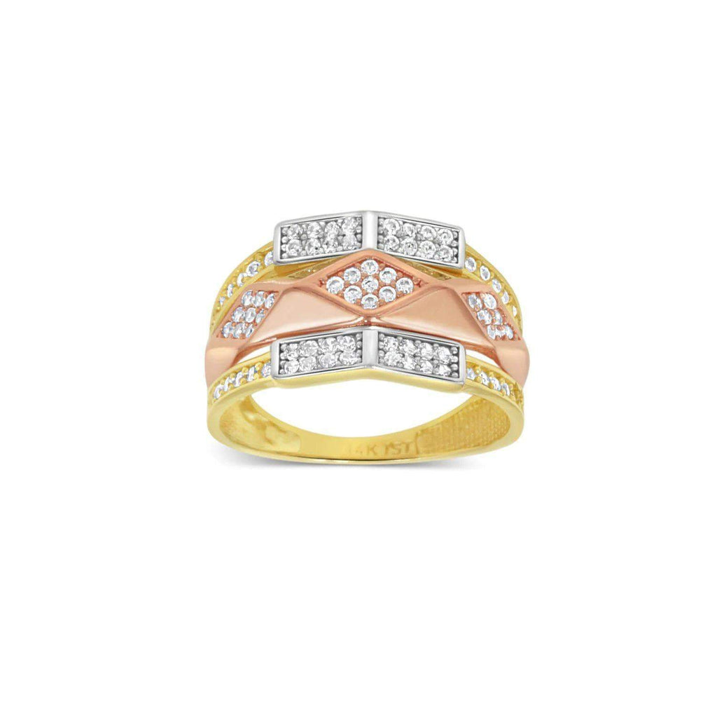 Las Villas Jewelry Womens Ring Women's Dual Tone Fashion 14kt Gold Ring