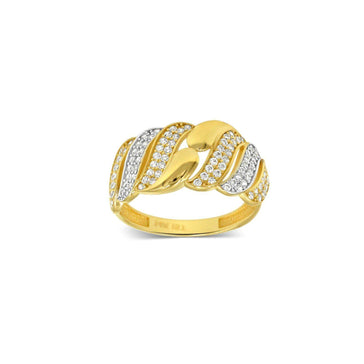 Las Villas Jewelry Womens Ring Women's fashion ring with Zirconia in 14kt Gold