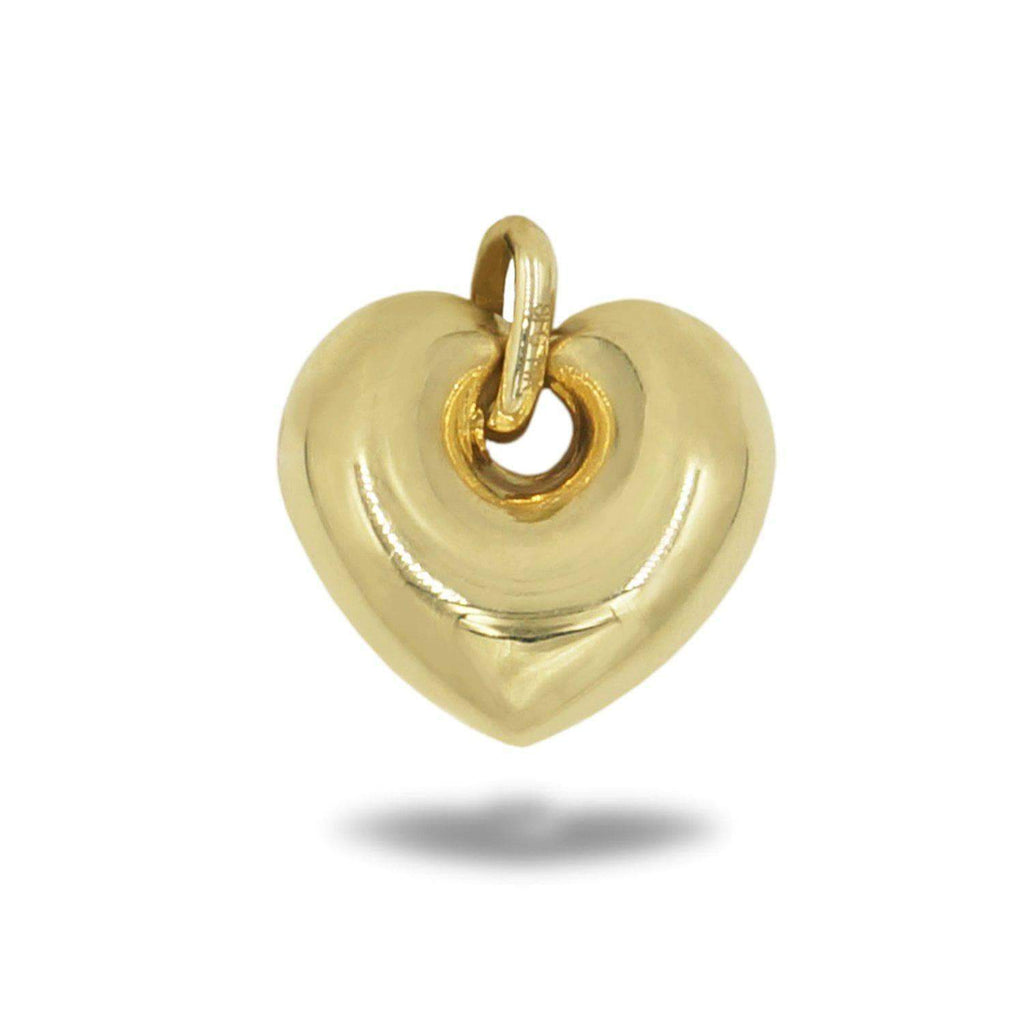 10K Polished Heart Pendant