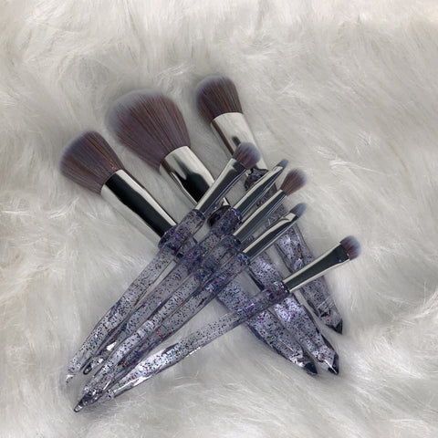 CRYSTAL CLEAR SNOB BRUSH SET