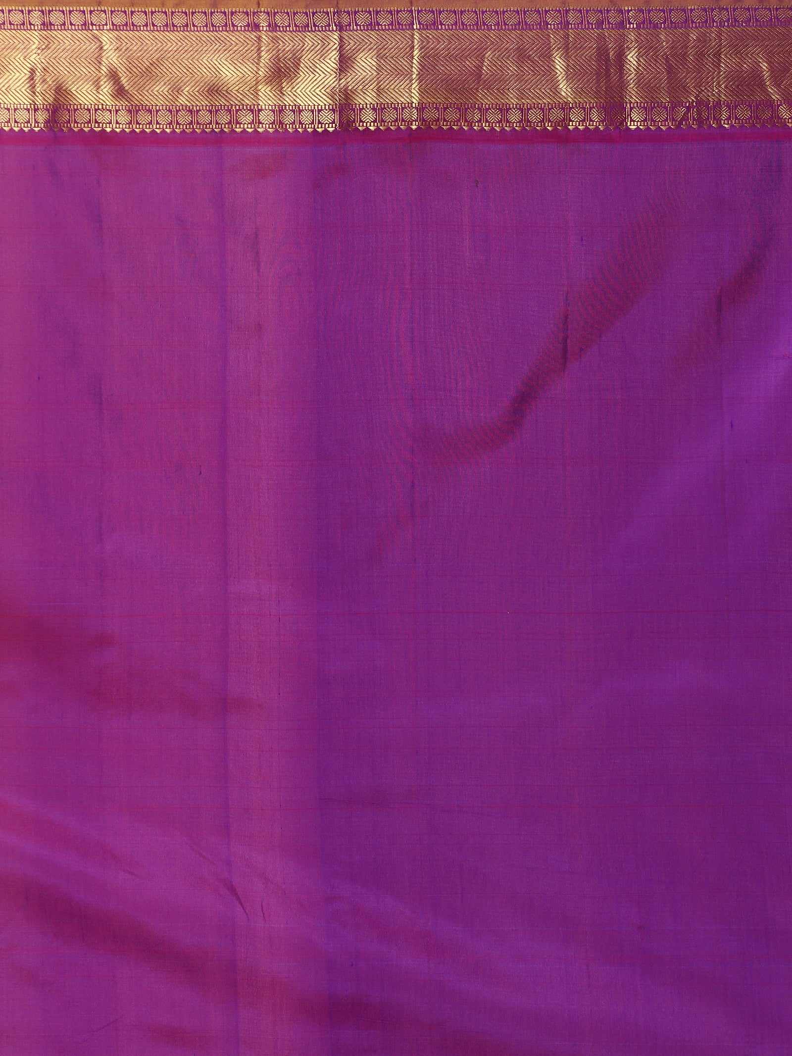 Blue Pure Silk Kanjivaram Saree with contrast Purple border