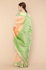 Peach Kanjivaram Pure Silk saree
