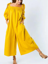 Load image into Gallery viewer, Off the shoulder wide leg cropped jumpsuit