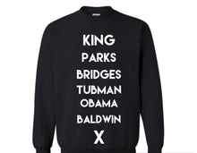 Load image into Gallery viewer, Kids Historical Figures (BHM inspired) sweatshirts
