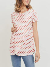 Load image into Gallery viewer, Polka Dot front cross panel nursing top