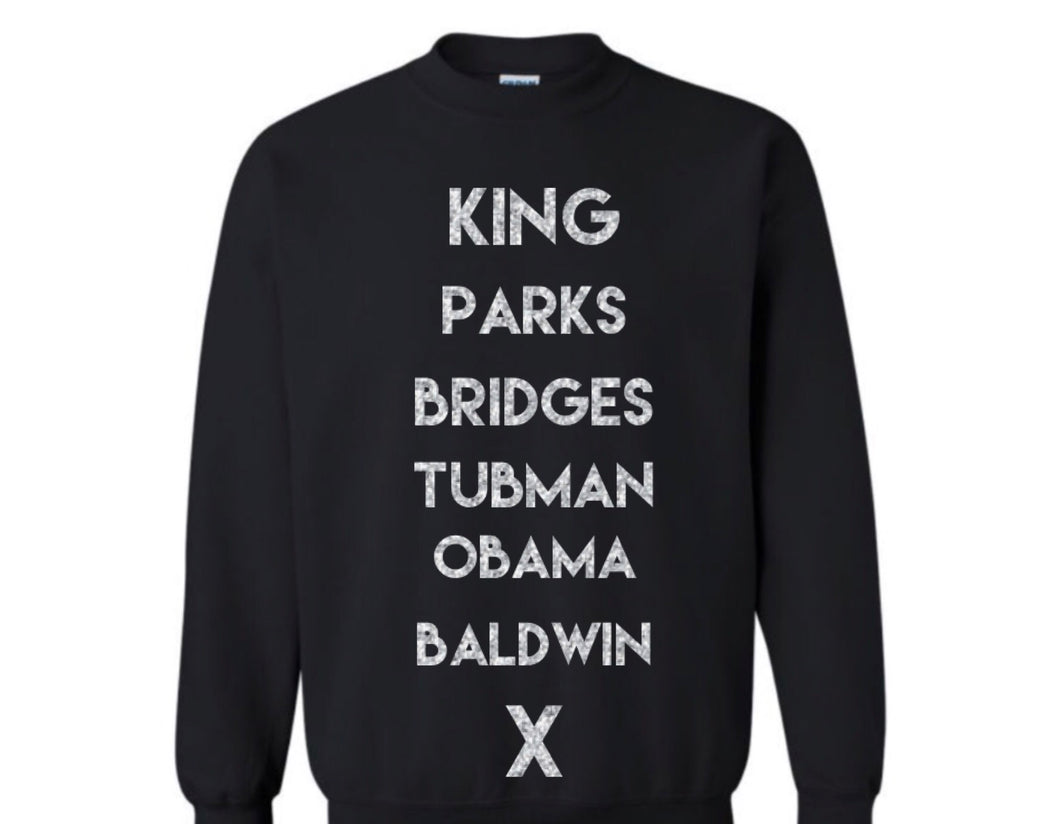 Historical Figures (BHM inspired) sweatshirt