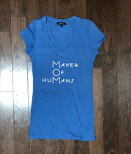 Load image into Gallery viewer, M.O.M. (Maker of HuMans) ss v-neck and crewneck fitted t-shirt