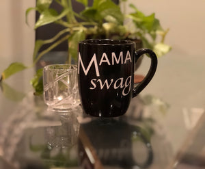 "Mama Swag ""Cup of Joe"" printed coffee mugs"