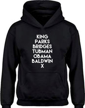 Load image into Gallery viewer, Kids Historical Figures (BHM inspired) hoodies