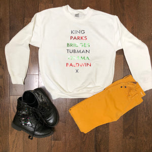 Kids Historical Figures (BHM inspired) sweatshirts