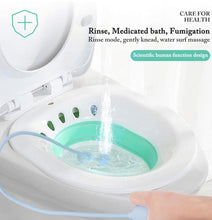 Load image into Gallery viewer, Sitz Bath Toilet foldable seat and rinse clean