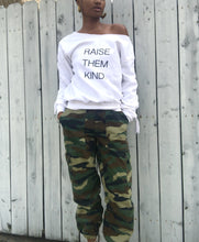 Load image into Gallery viewer, Raise Them Kind embellished side ruching sweatshirt