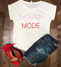Load image into Gallery viewer, Mommy Mode gathered hem tassel tie sleeve t-shirt