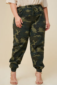 High Rise skinny cargo + Mid-Rise camo drawstring jogger