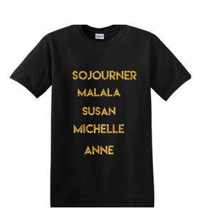 Historical Women (WHM inspired) crewneck ss t-shirt