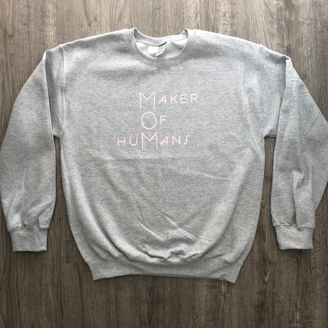 Maker of Humans crewneck sweatshirt
