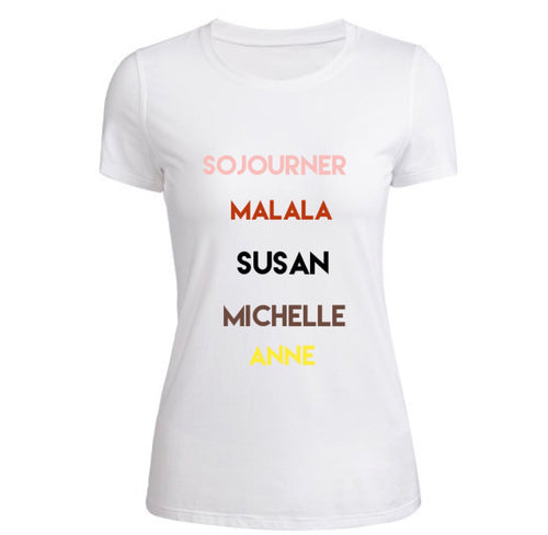 Historical Women (WHM inspired) fitted crewneck t-shirt