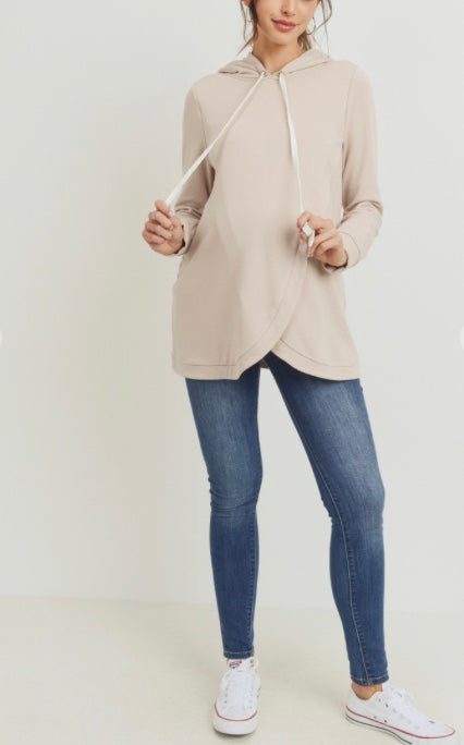 Brushed French Terry Nursing Hoodie