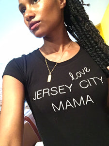 LOVE destination MAMA (different cities) crewneck fitted tee