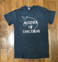 Load image into Gallery viewer, MofU Mother of Unicorns short sleeve crewneck t-shirt