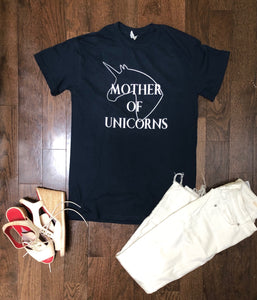 MofU Mother of Unicorns short sleeve crewneck t-shirt