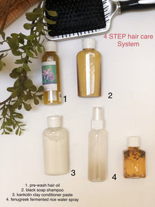 4 STEP+ALL HAIR care systems and sample kits