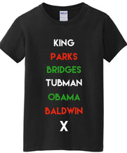 Load image into Gallery viewer, Historical Figures BHM (black history month) inspired crewneck ss t-shirt