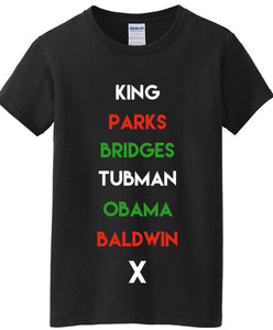 Historical Figures BHM (black history month) inspired crewneck ss t-shirt