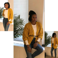 Load image into Gallery viewer, Colorful pom-pom cardigan sweater