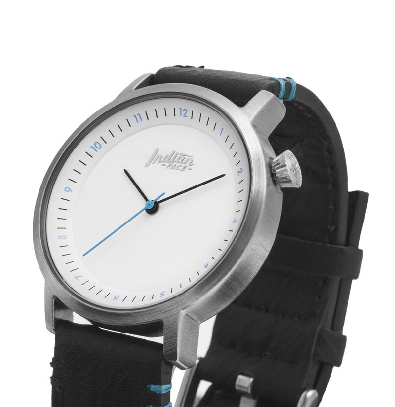 🅿 RELOJ SCOPE Silver and White- Pulsera Negra - Alcabi