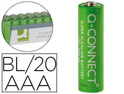 🅿 Pilas alcalinas AAA Q-Connect pack 20 ud. - Alcabi