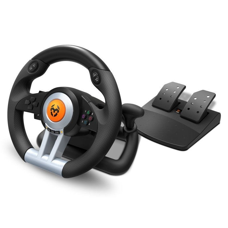 🅿 Volante con Pedales KROM K-WHEEL Para PC, PS3, PS4 y XBOX ONE - Alcabi
