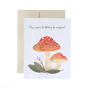 Magical Mushrooms | Plantable Greeting Card