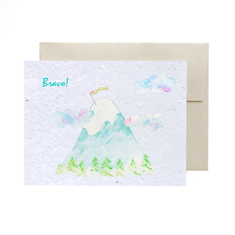 Mountain Top | Plantable Card