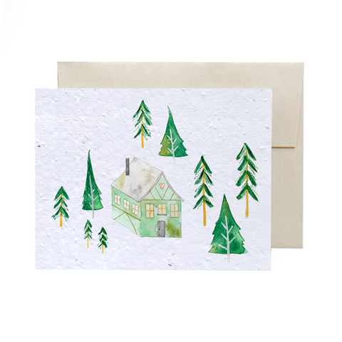 Chalet | Plantable Greeting Card