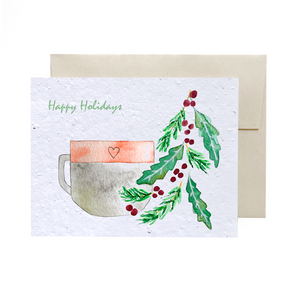 Holiday Mug | Plantable Greeting Card