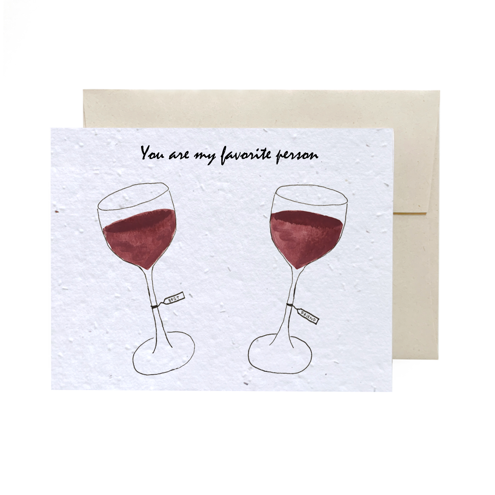 Favourite Wine | Plantable Card