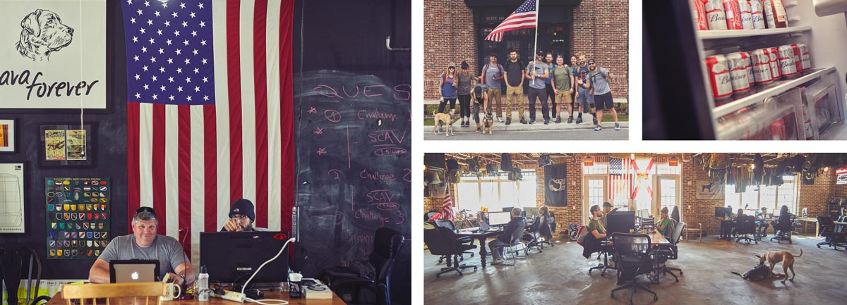 GORUCK Employees working at GORUCK headquarters