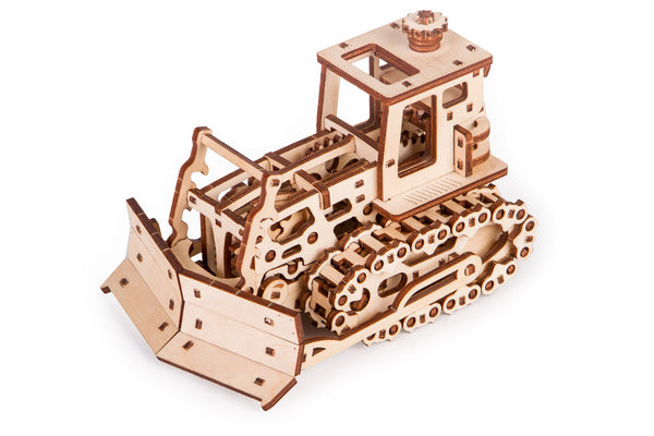 Time 4 Machine - Push Dozer  3d Wooden Mechanical model kit - wooden toy kits for adults