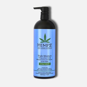 HEMPZ Triple Moisture Daily Herbal Whipped Crème Conditioner & Hair Mask 1L