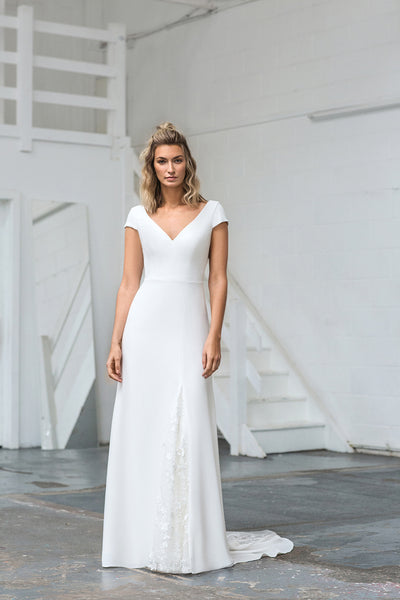 The Emmy Capped Sleeve Wedding Dress